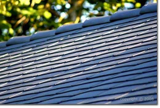 Tejas ligeras de pl stico estilo pizarra para tejados y for Plastico para tejados