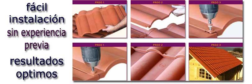 Tejas ligeras de pl stico para tejados y cubiertas con - Cubiertas vegetales para tejados ...